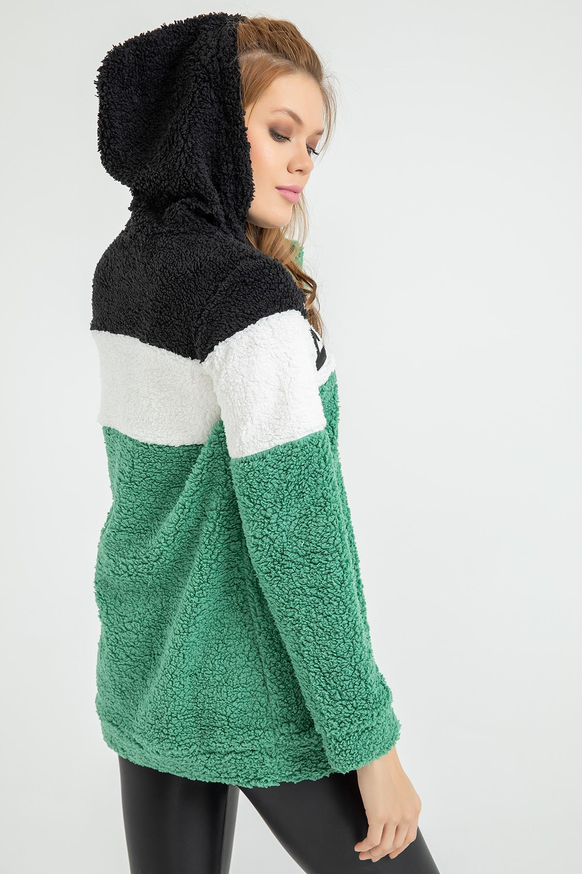 Kuzu Nakış Detay Sweatshirt-Mint