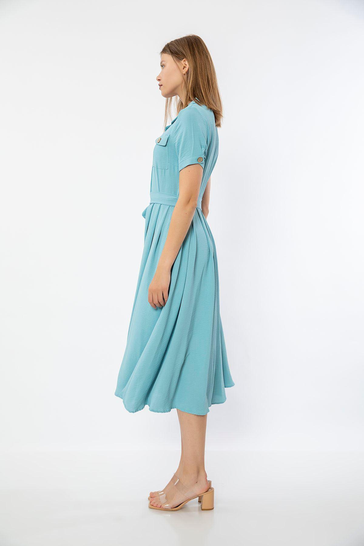 Cep Detay Elbise-Bebemavi