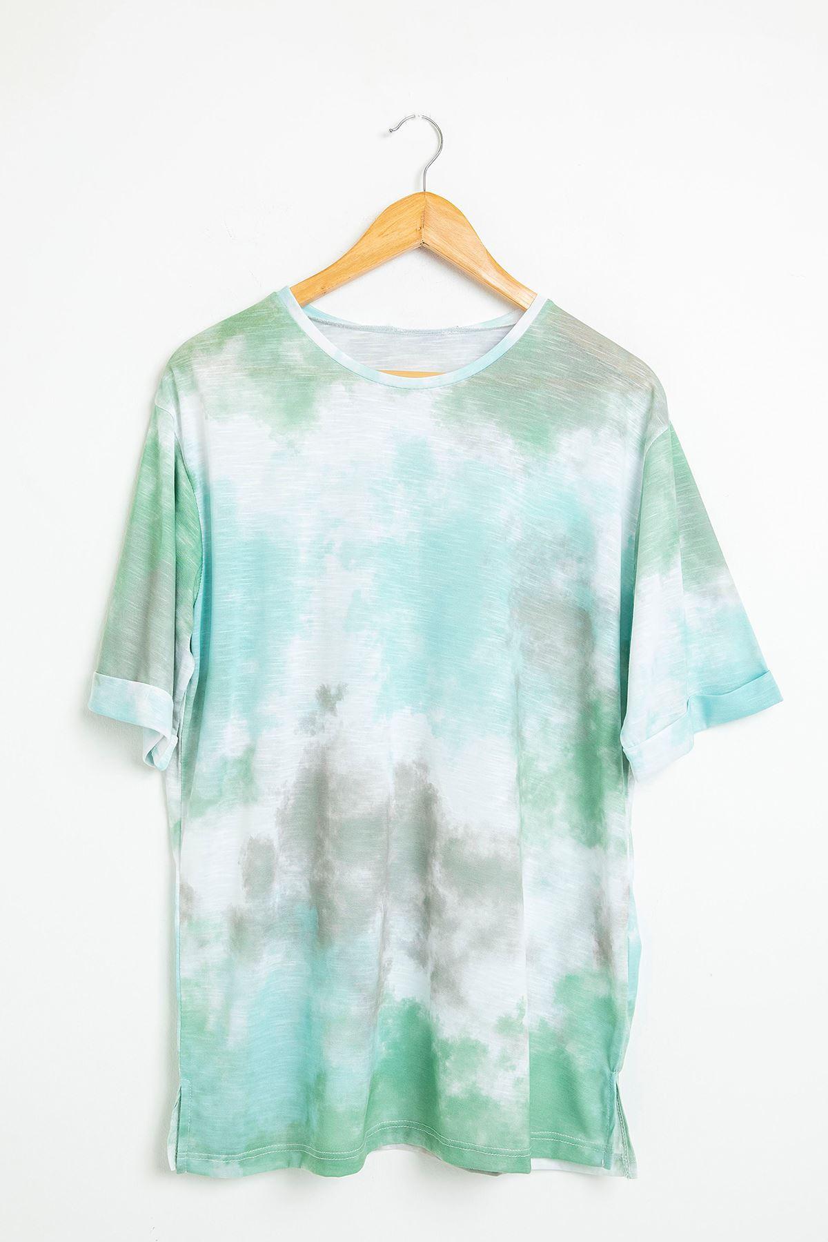 Batik Desen Salaş T-Shirt-Mint