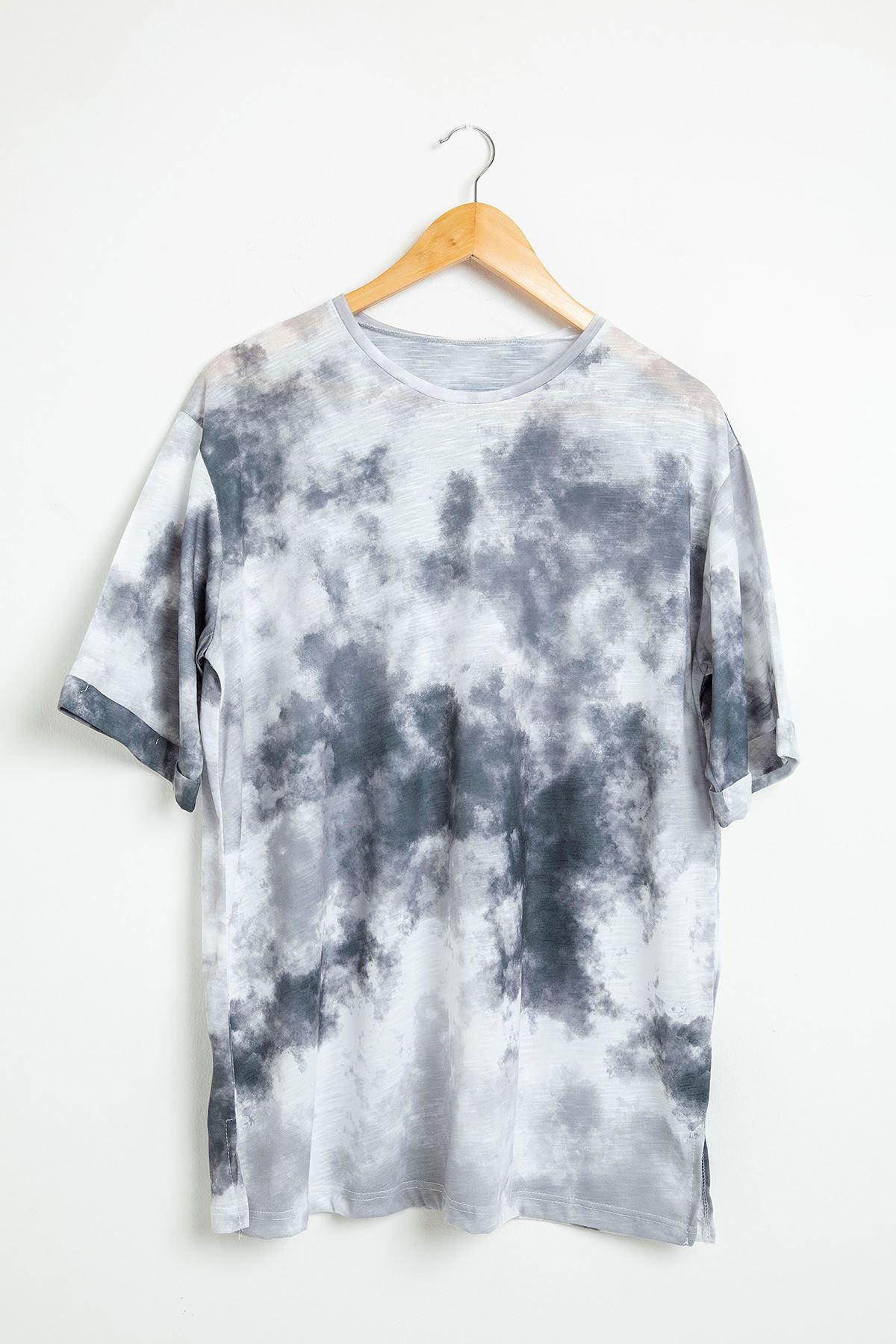 Batik Desen Salaş T-Shirt-Siyah