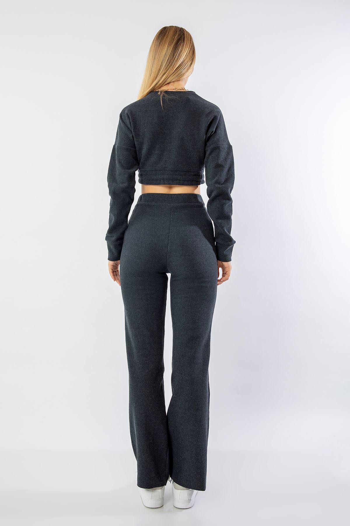 Bol Paça Pantolon Takım-Antrasit