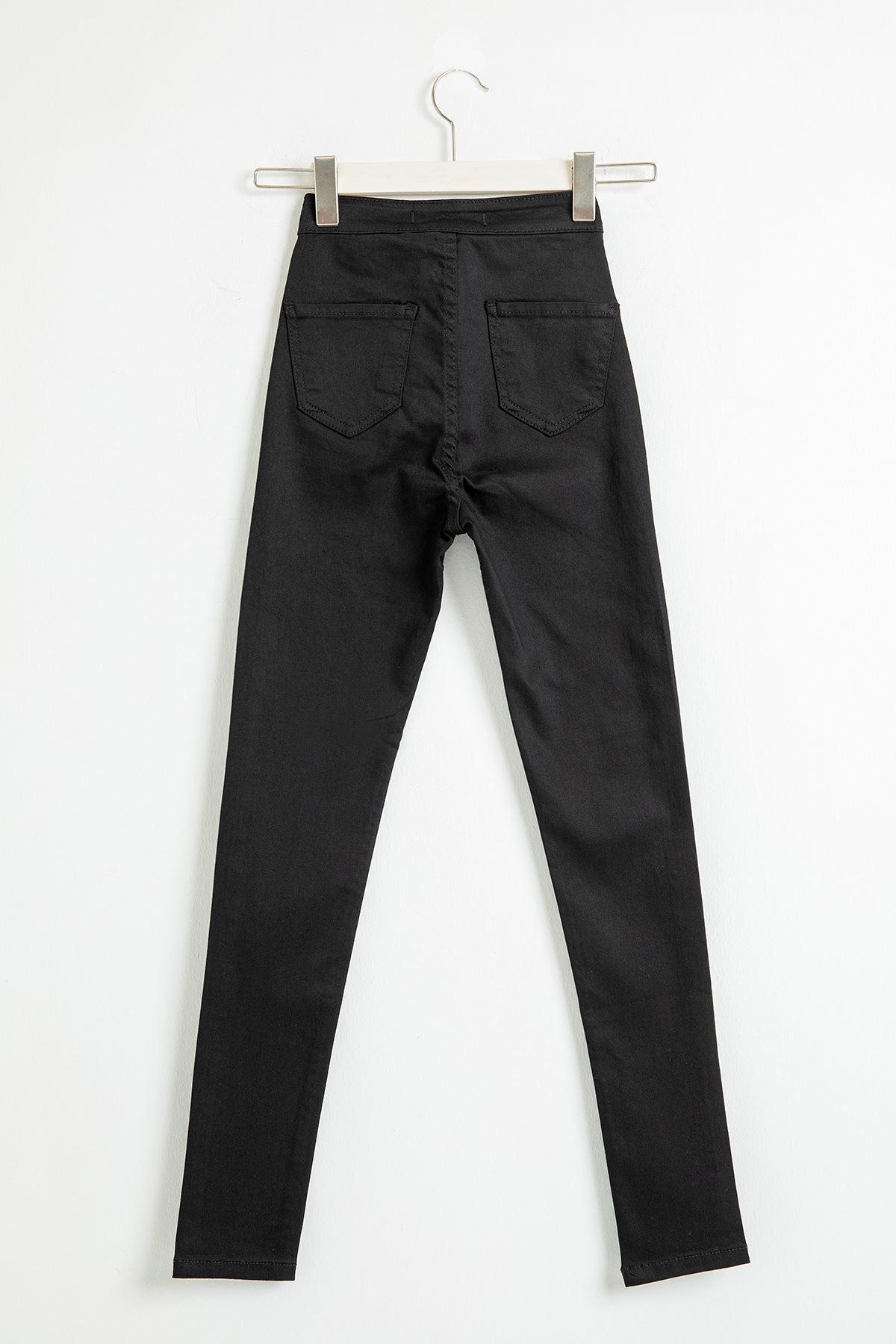 Cepsiz Skinny Jean Pantolon-Siyah