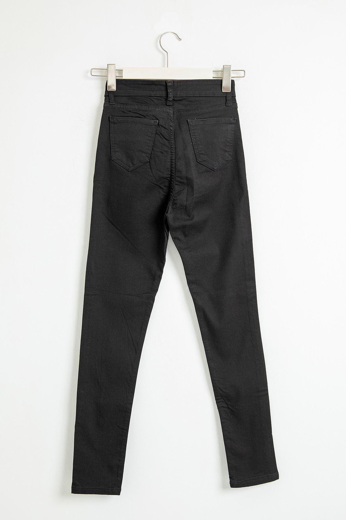 Cepli Siyah Jean Pantolon-Siyah
