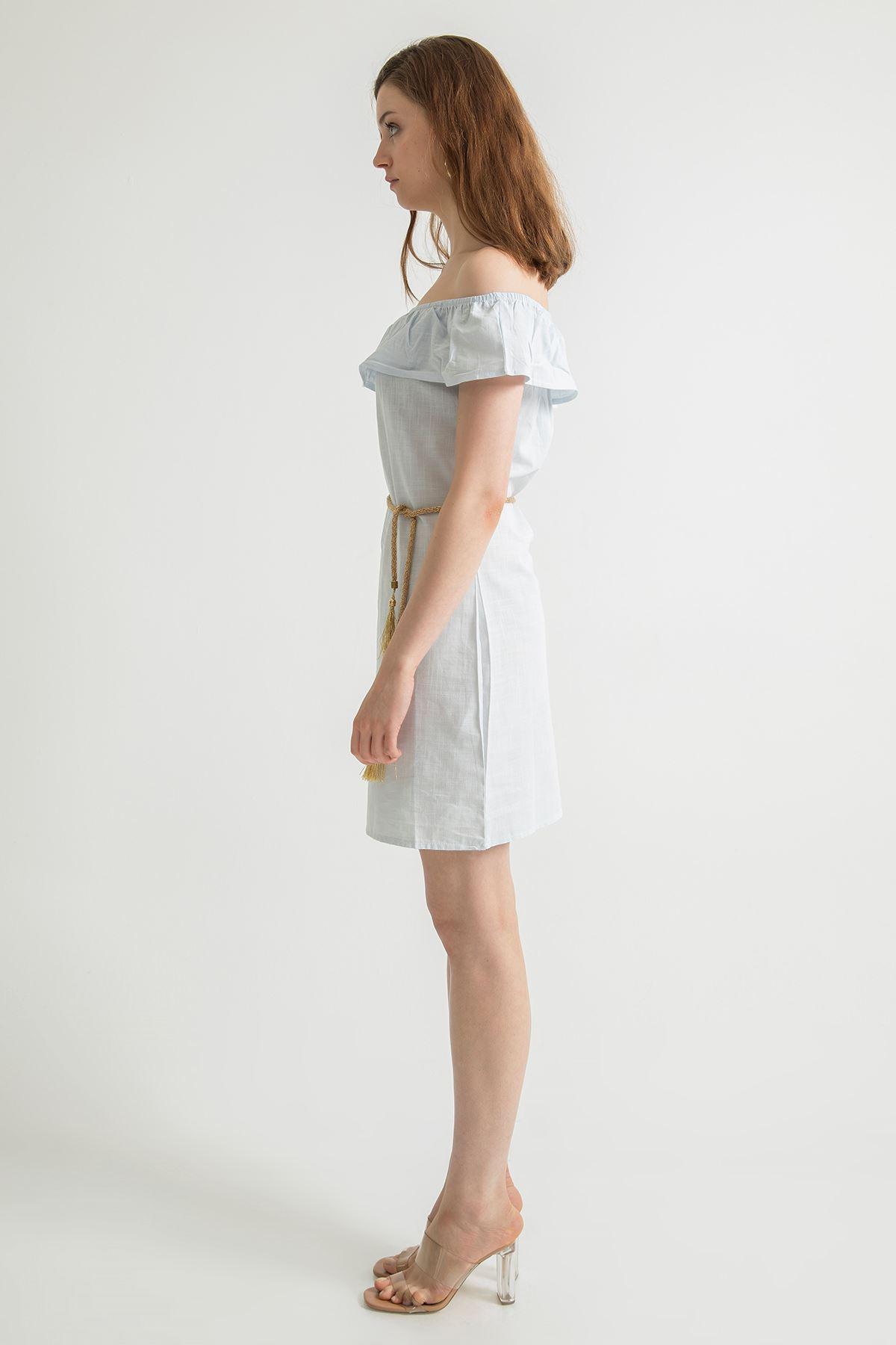 Fırfır Detay Elbise-Bebemavi
