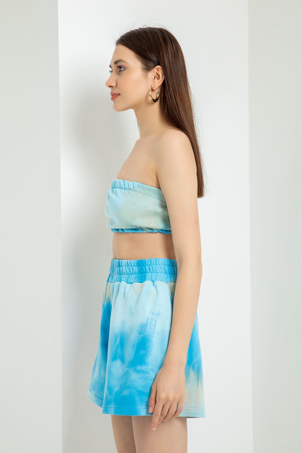 Batik Desen Şort Takım-Bebemavi