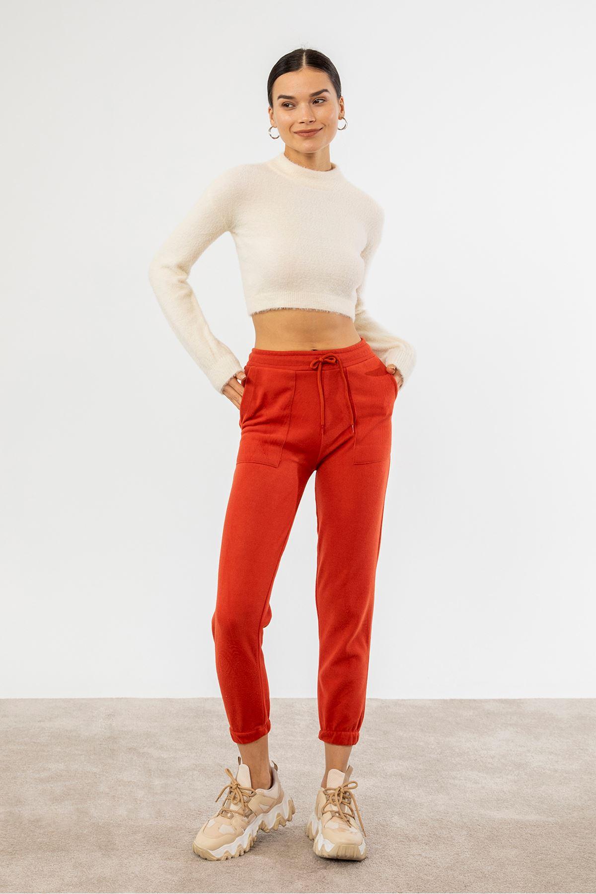 Cepli Pantolon-Kırmızı