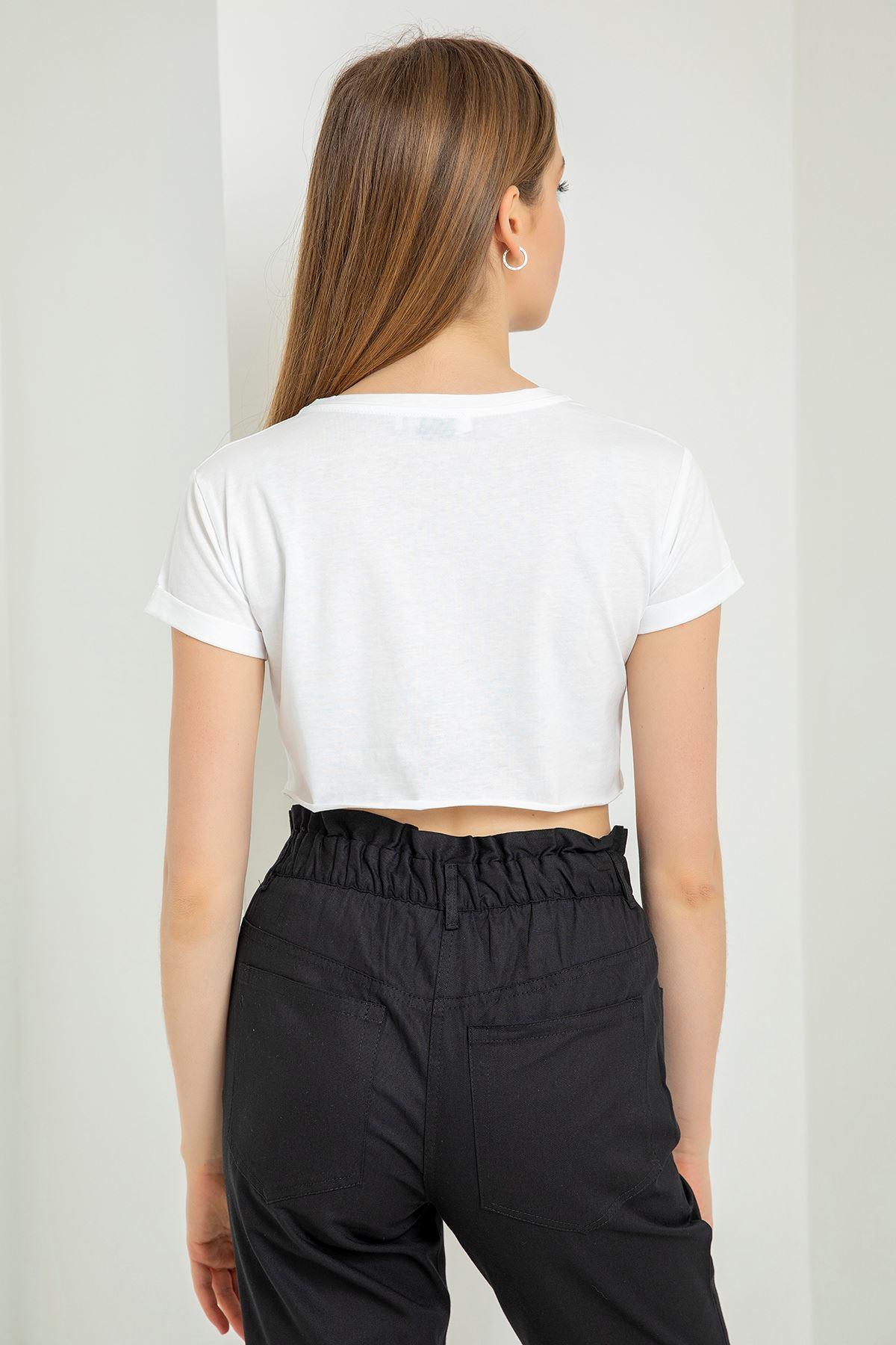 Always Be Kind Baskılı T-Shirt-Beyaz