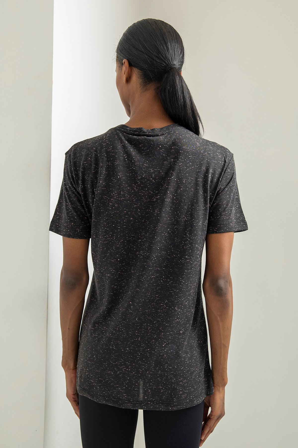 Tropical Mood Baskılı T-shirt-Siyah