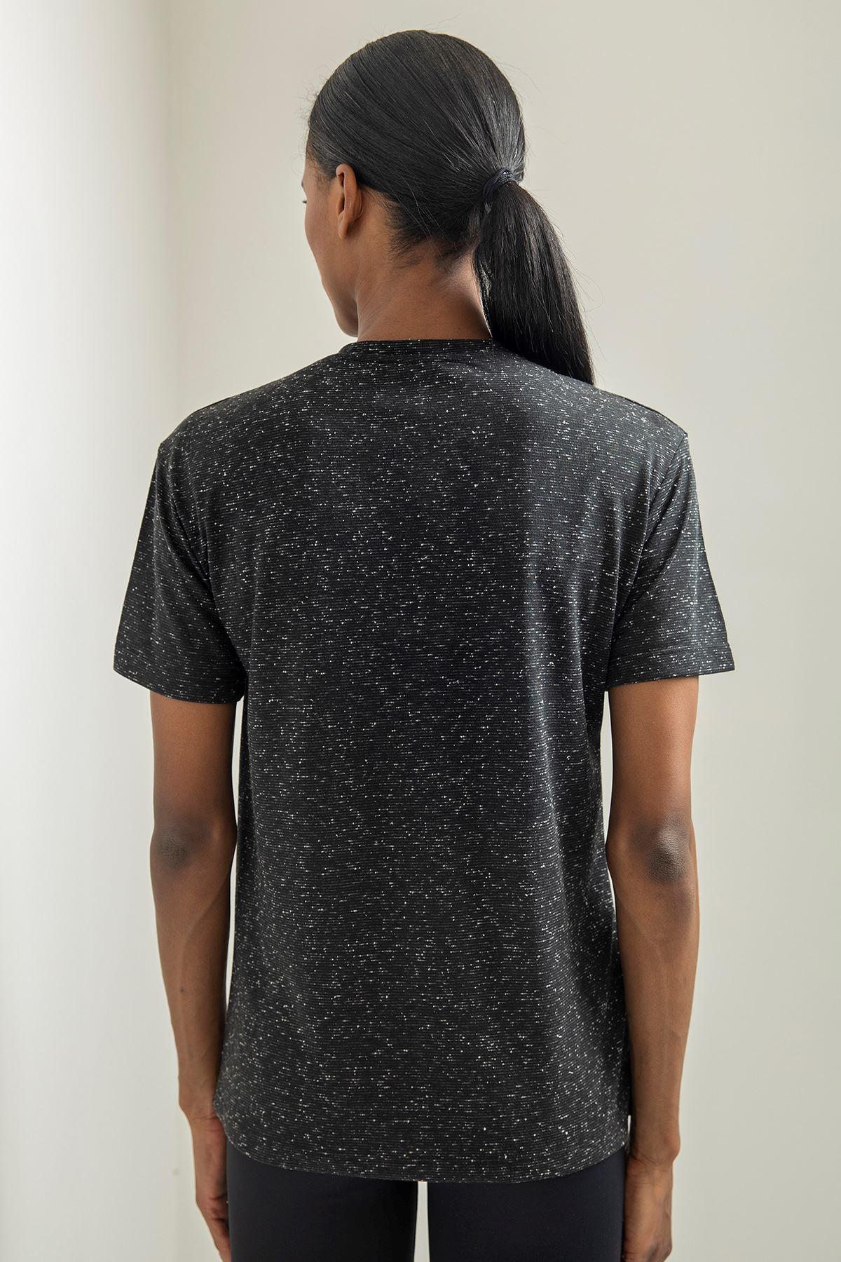 Awesome Baskılı T-shirt-Siyah