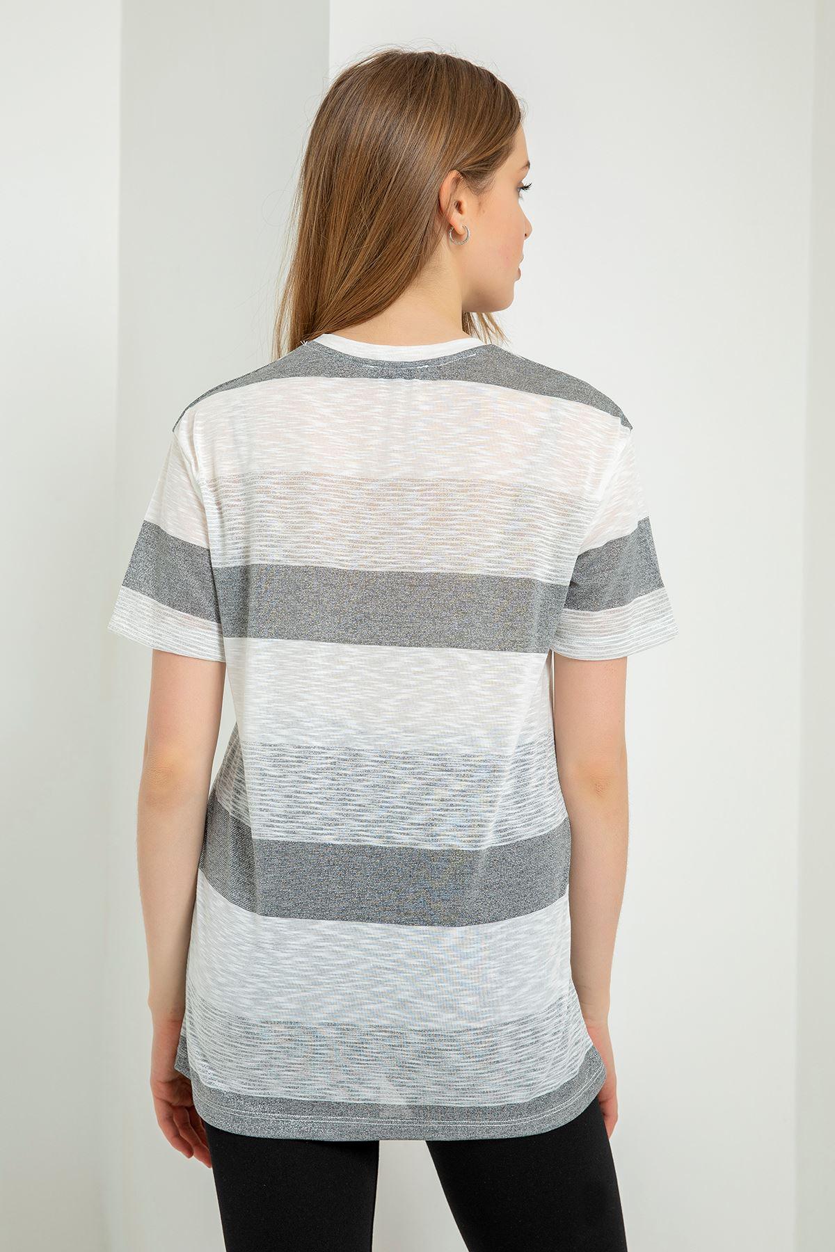 Choose Happy Baskılı T-shirt-Beyaz
