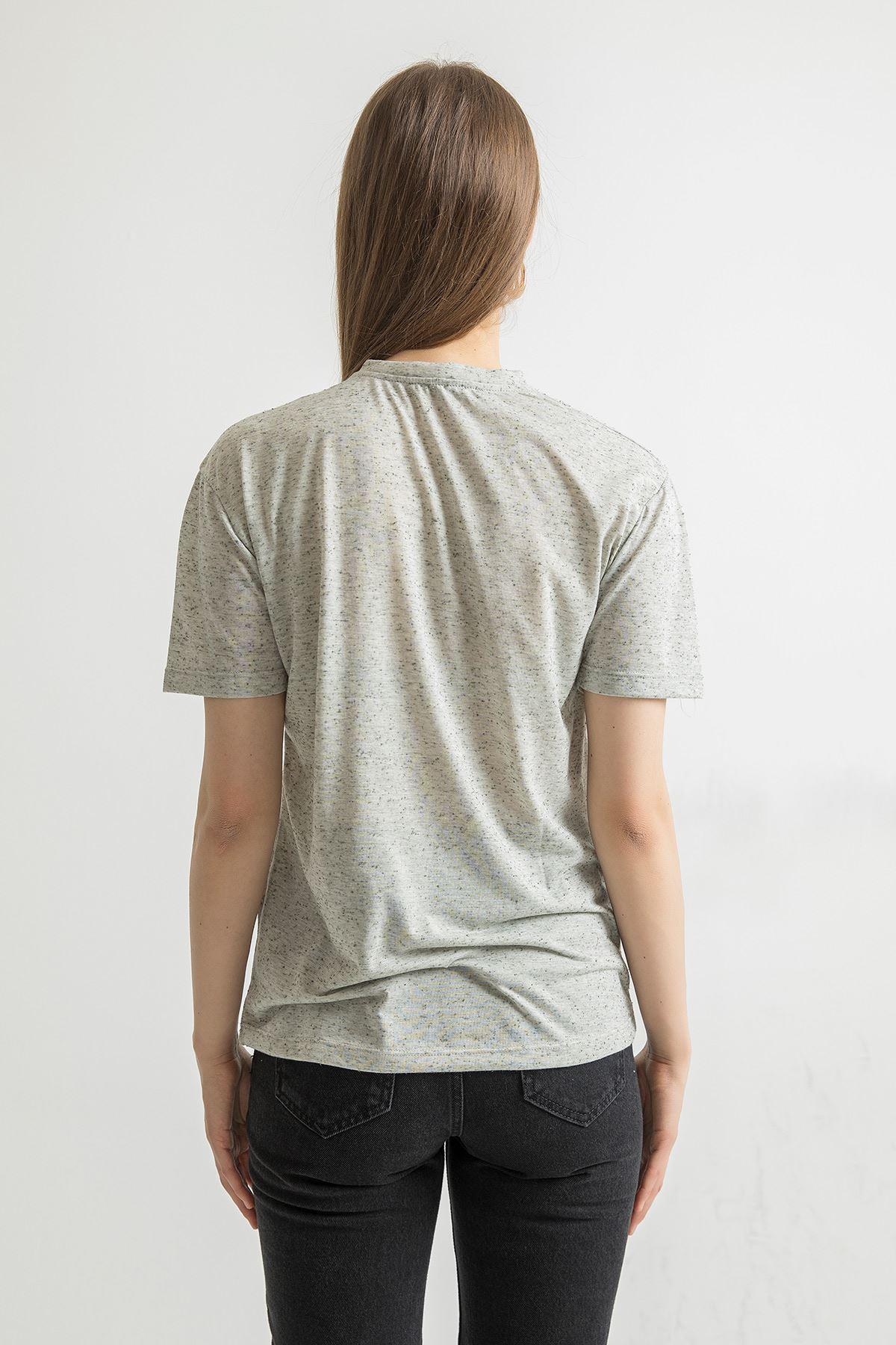 Stay Baskılı Salaş T-shirt-Antrasit