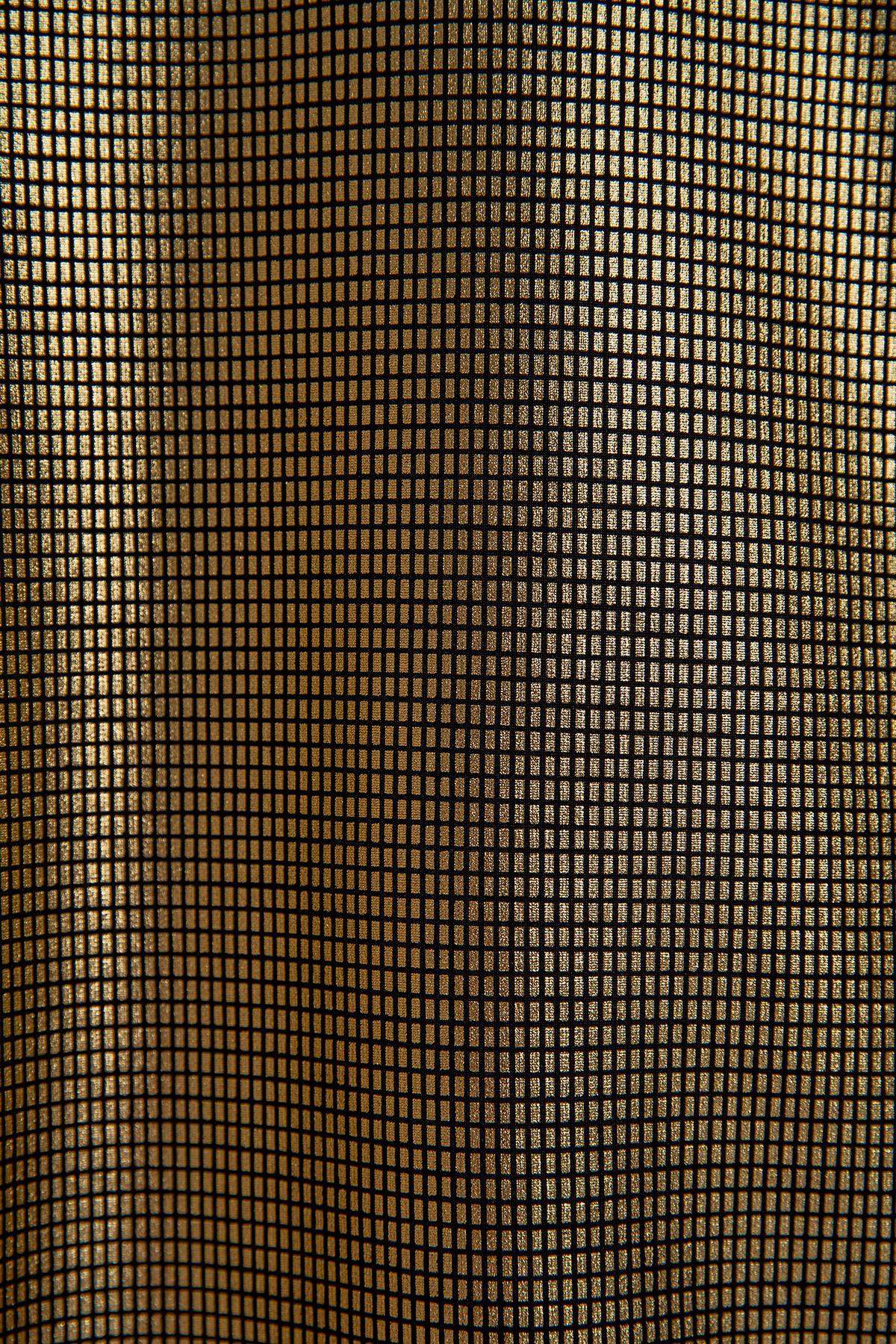 Tül Detay Bluz-Gold