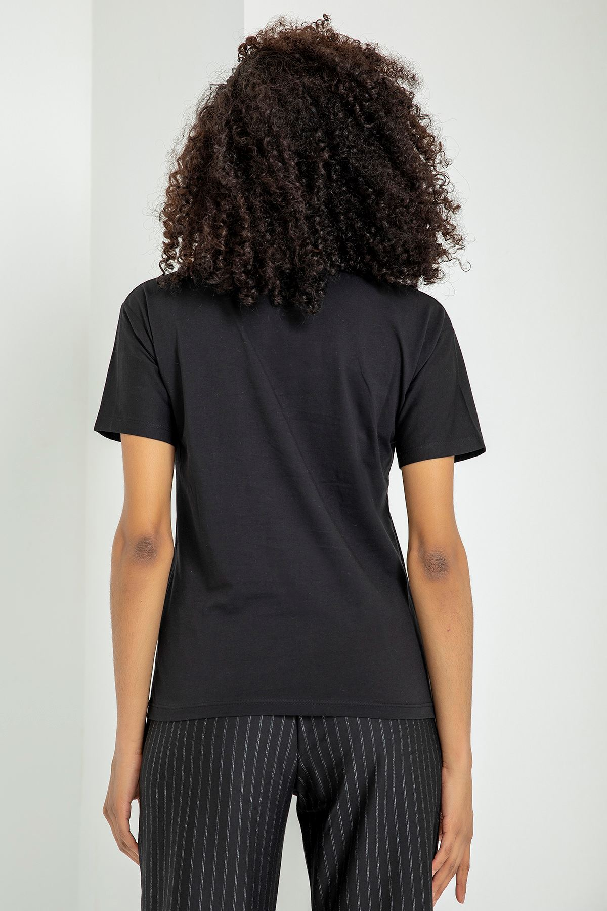 Soul Baskılı T-Shirt-Siyah