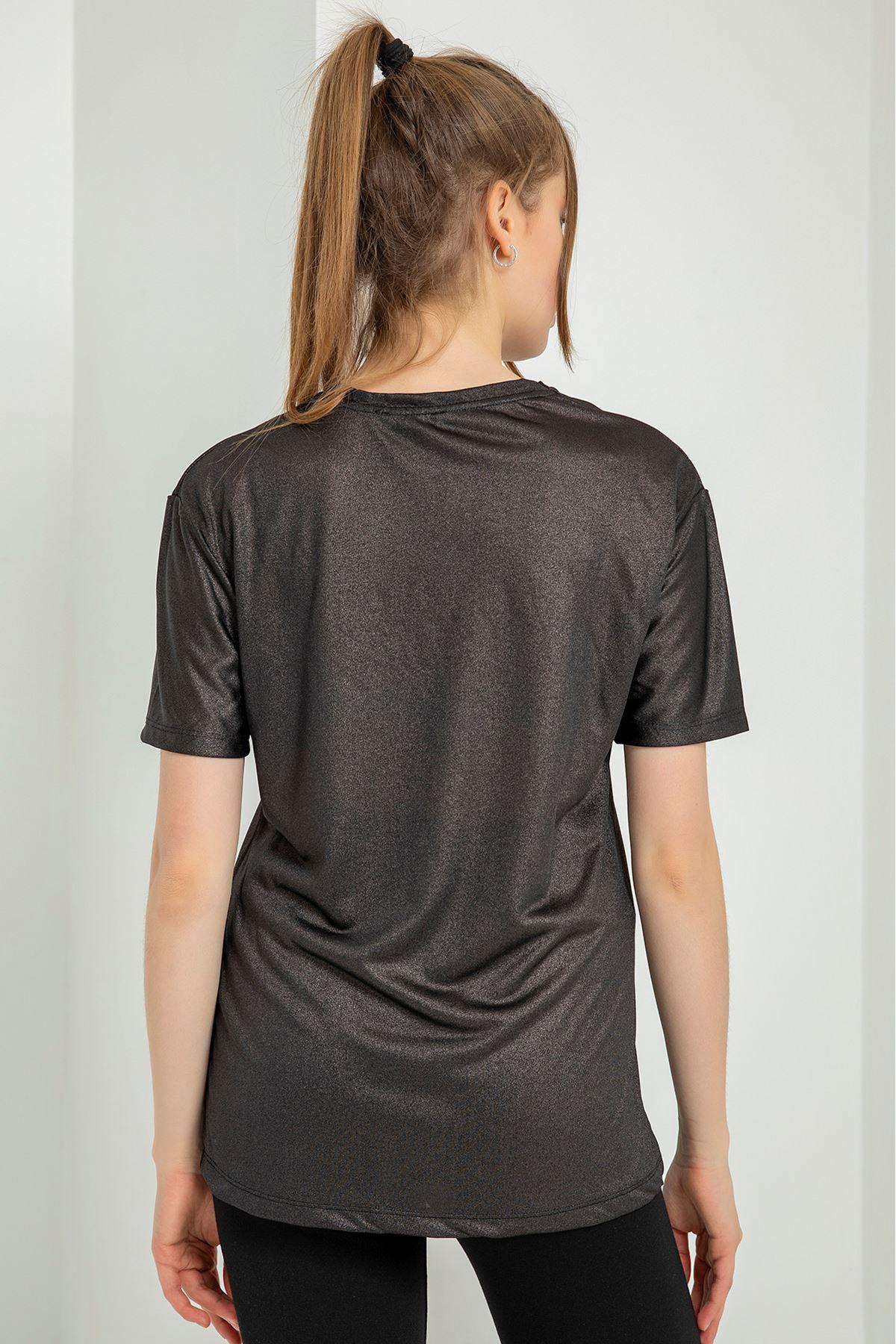 Common Baskılı T-shirt-Siyah