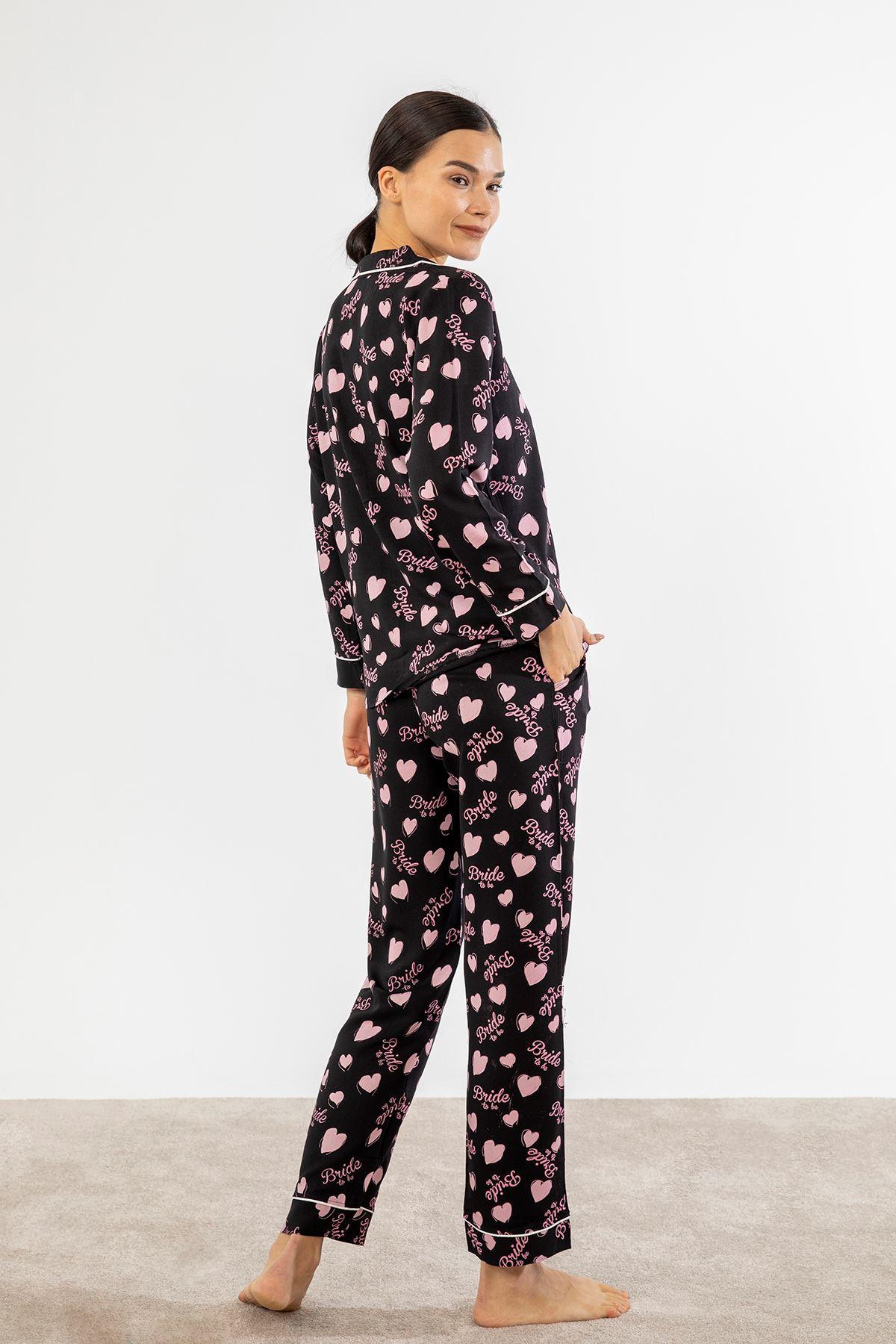 Barbie Baskılı Pijama Takım-Siyah