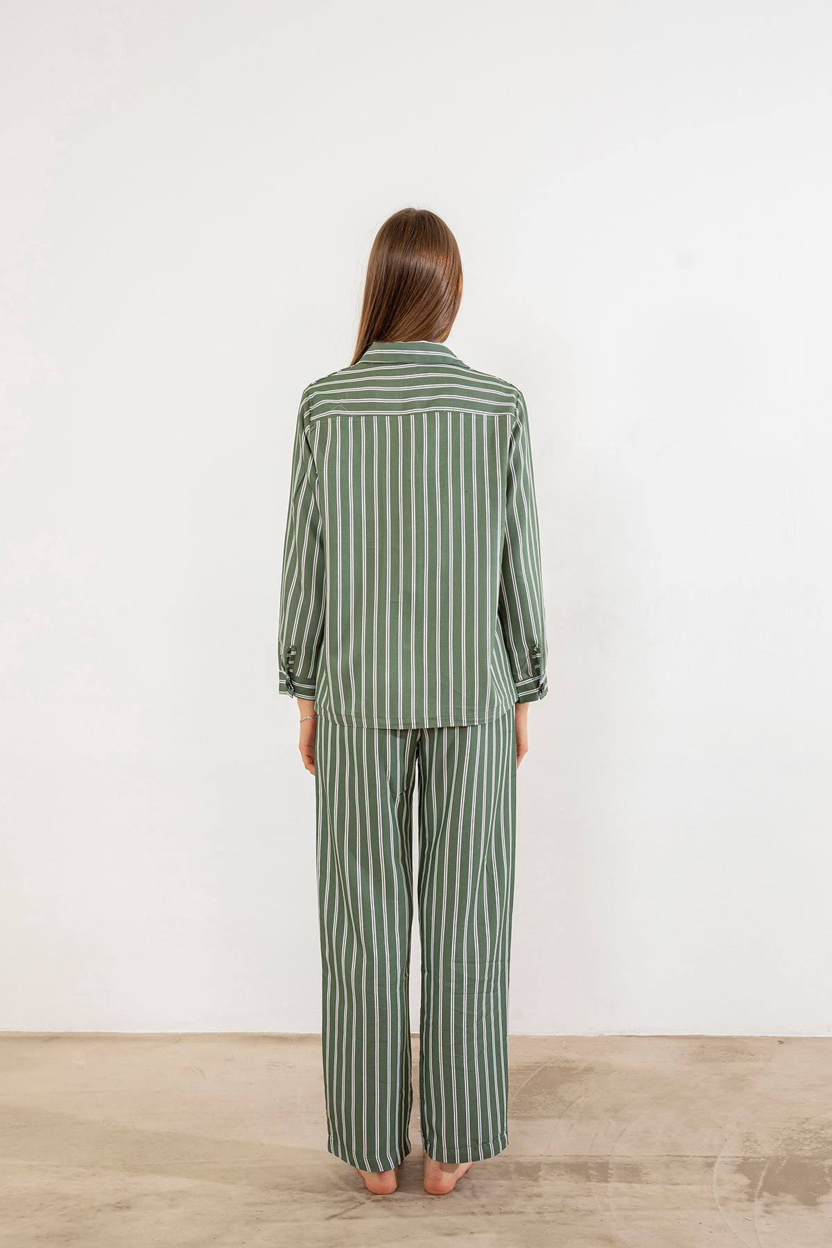 Cepli Pijama Takımı-Çizgili