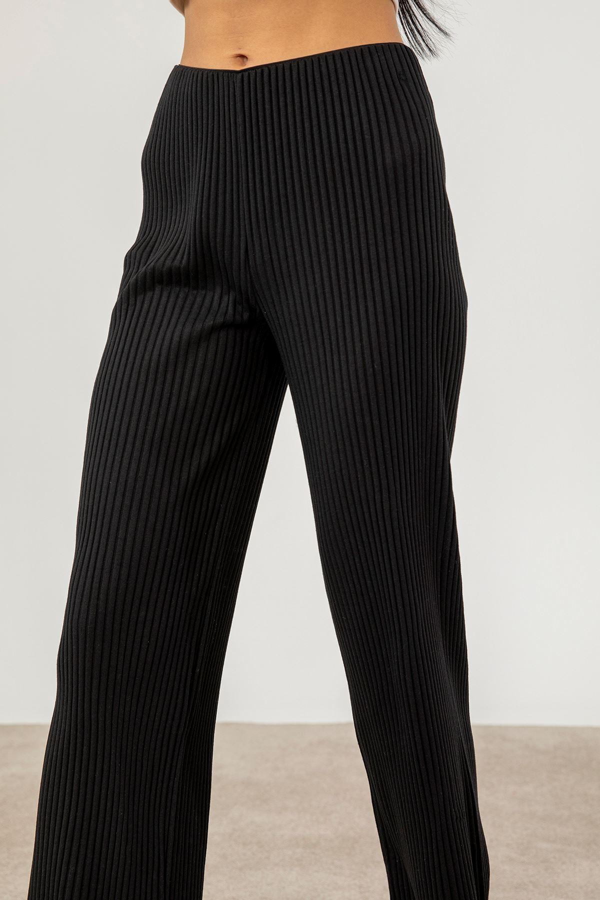 Fitilli Pantolon-Siyah