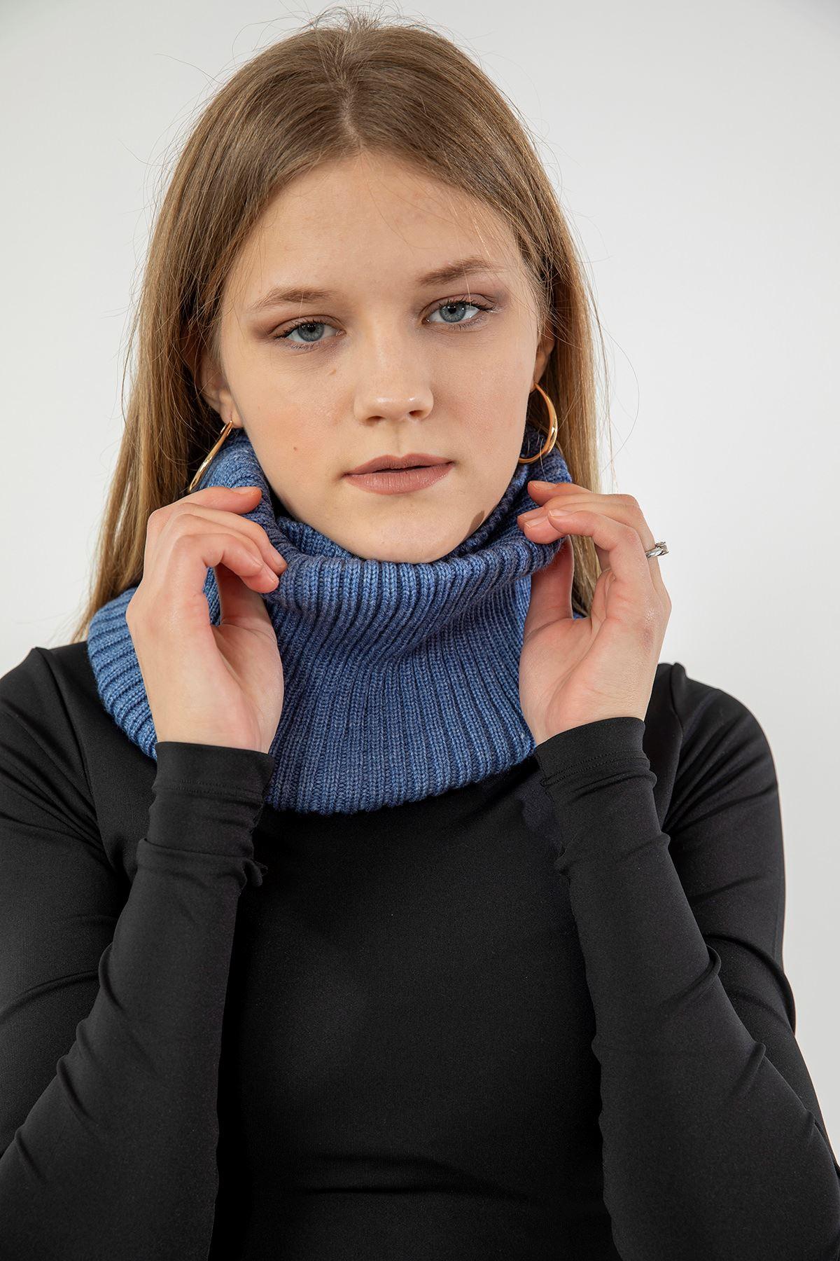 Likralı Boyunluk-Mavi