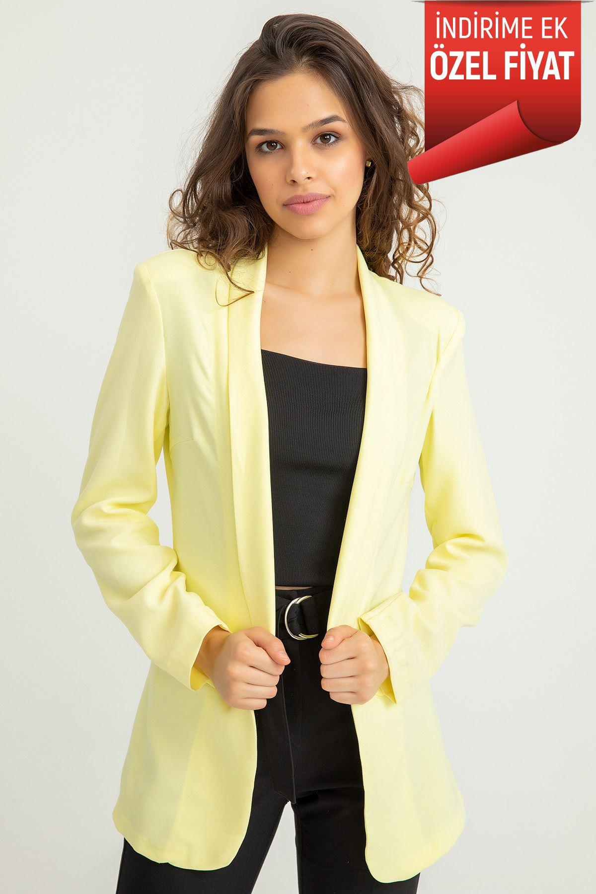 Atlas Blazer Ceket-Sarı