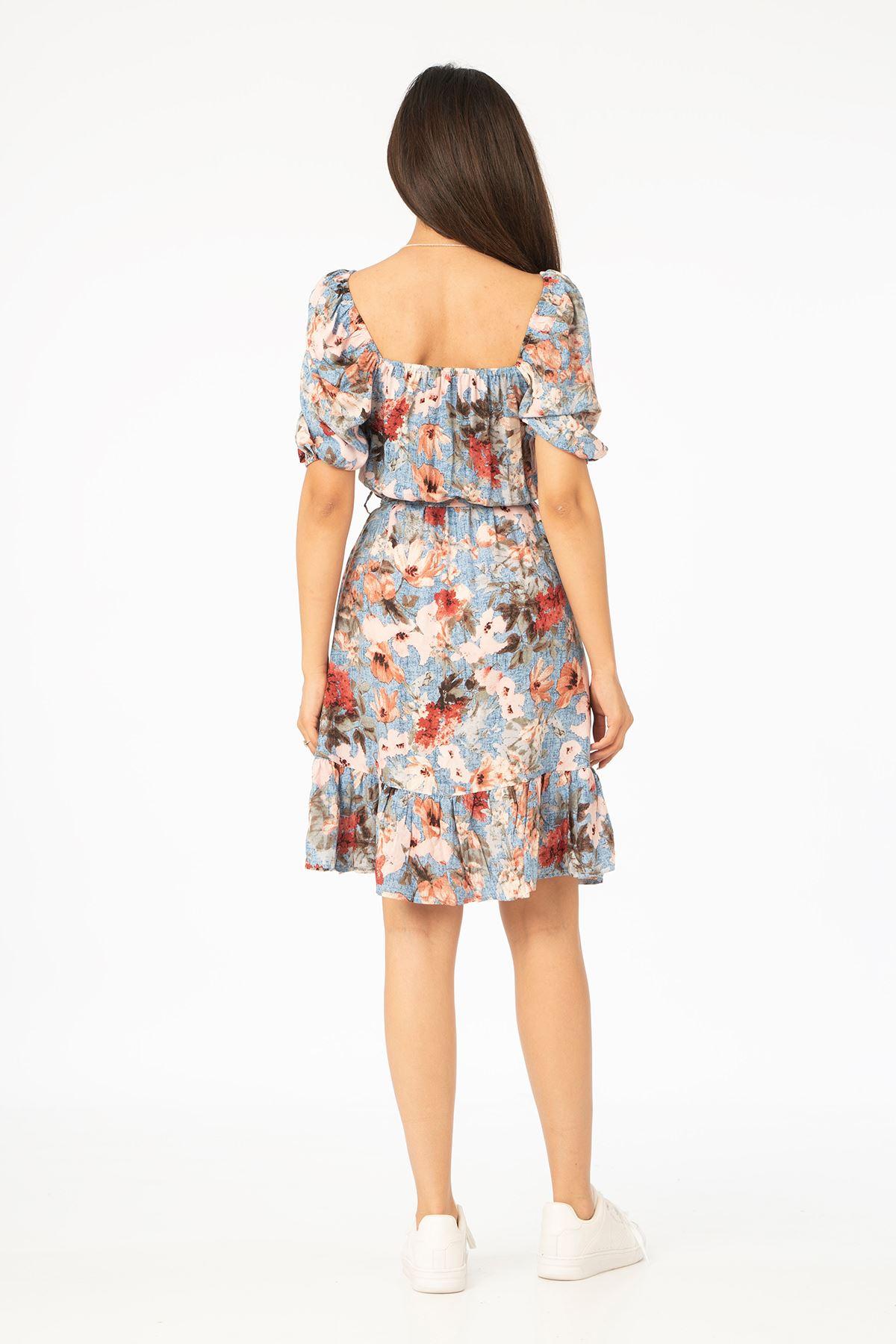 Kuşaklı Elbise-Mint
