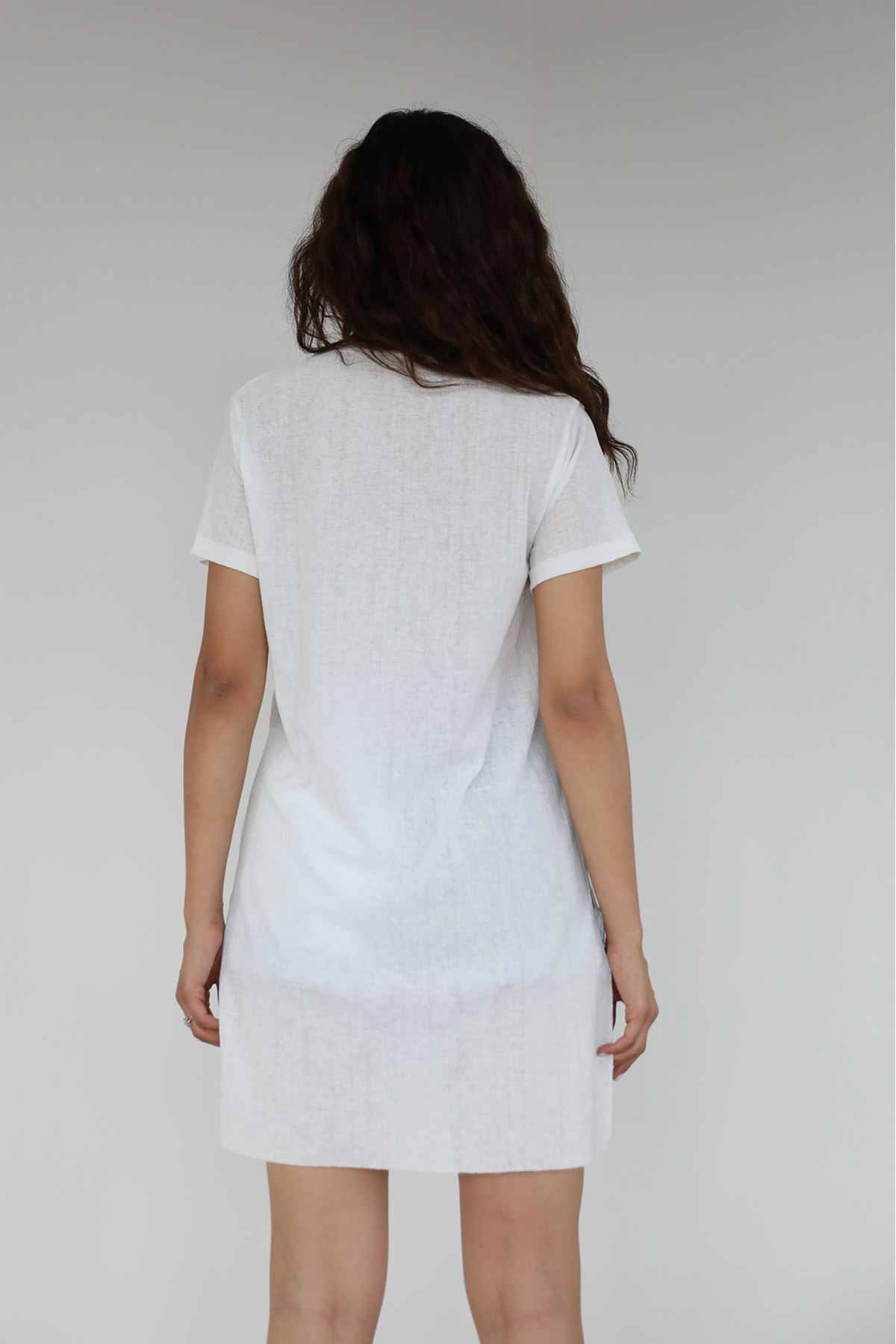 Alwarys Be Kind Baskılı T-shirt-Ekru
