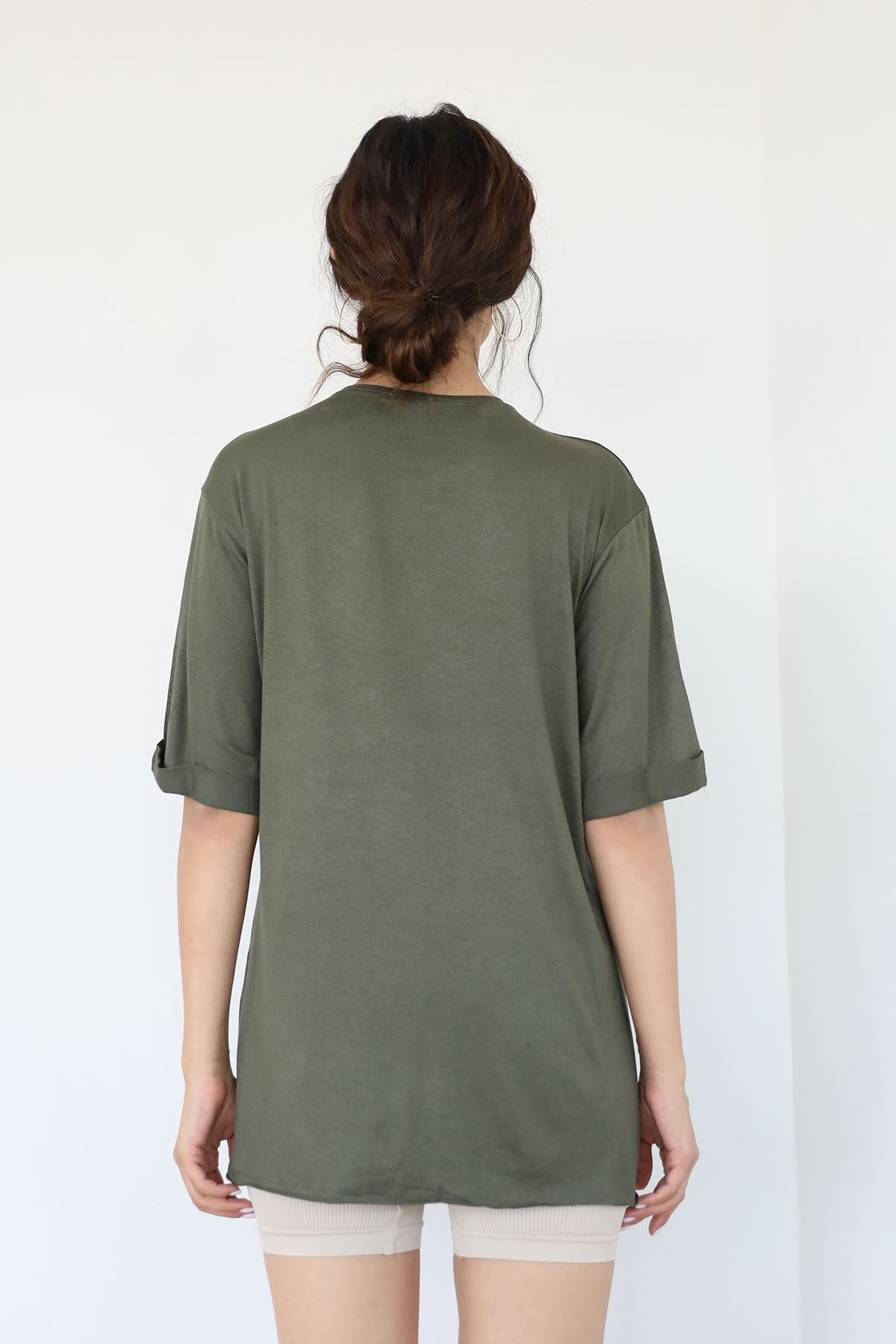 Thıngs Baskılı T-shirt-Haki