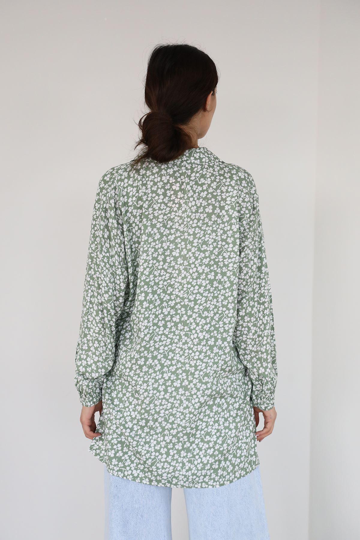 Yonca Desen Gömlek-Haki