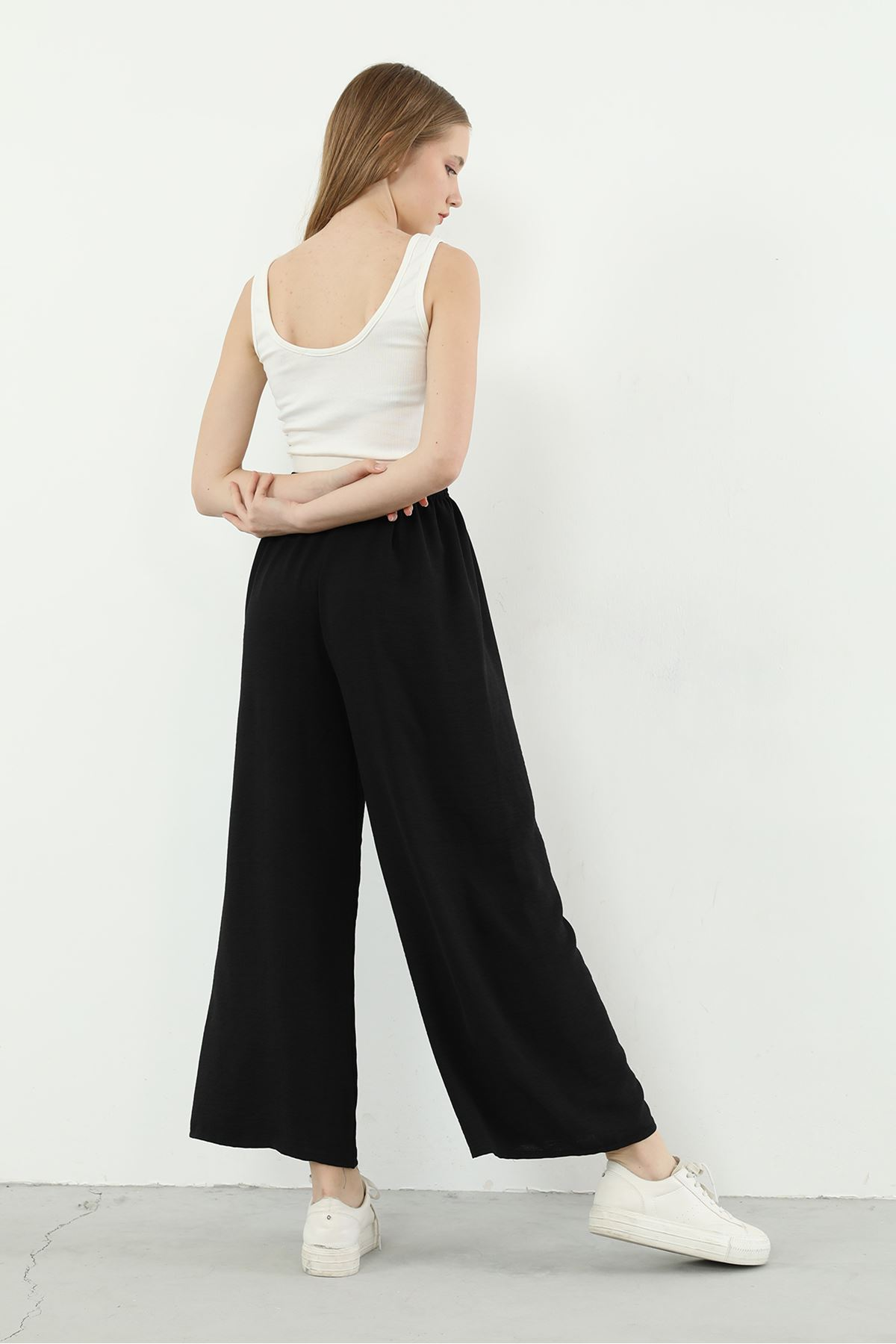 Salaş Bol Pantolon-Siyah