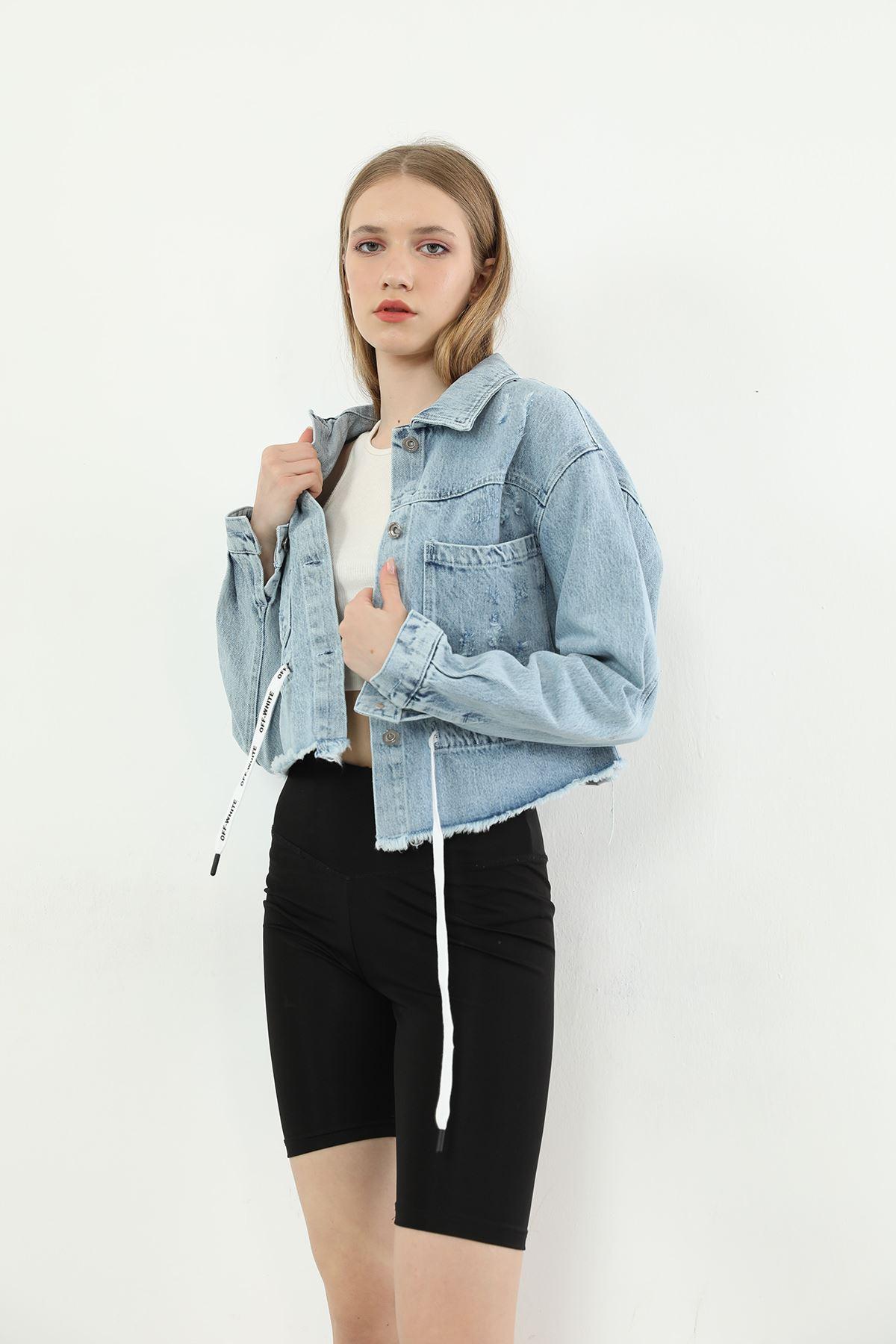 Cepli Kot Ceket-Mavi