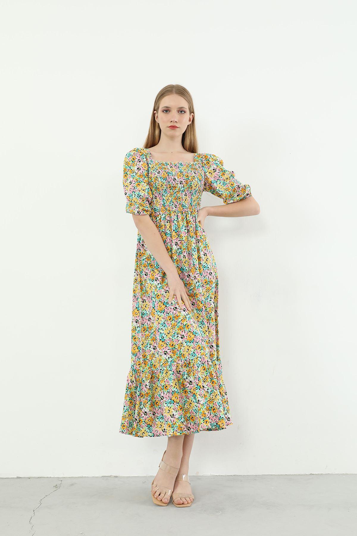 Gipeli Elbise-Sarı