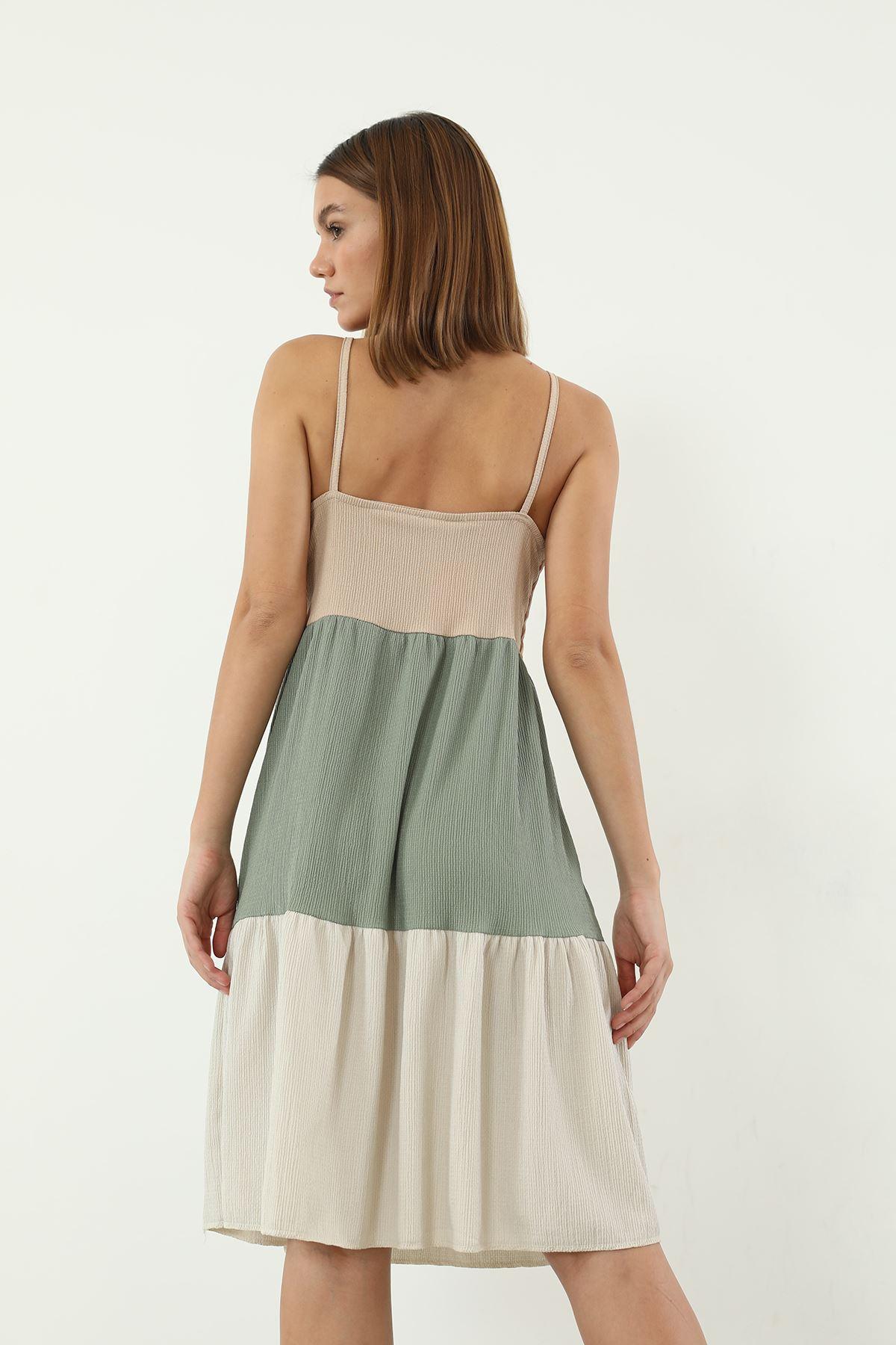 Askılı Elbise-Haki