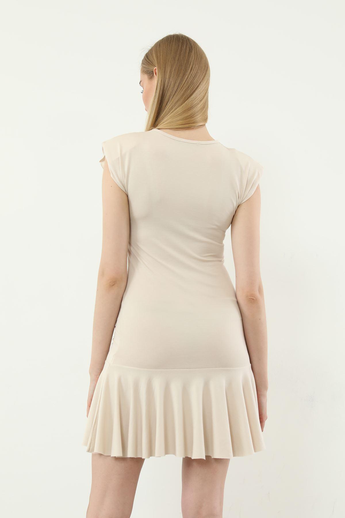 Vatkalı Elbise-Taş