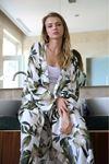 Palmiye Desen Kimono-Yeşil